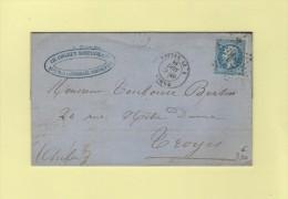 Paris - Etoile 22 - R. Du Helder - 17 Sept 1866 - Facture Illustree Huiles Et Produits Chimiques - 1849-1876: Classic Period