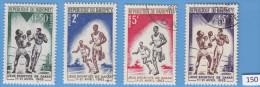 DAHOMEY 1963; Mi: 213, 215, 216, 217; MNH & USED; Sports Games From Dakar, Boxing, Running - Bénin – Dahomey (1960-...)