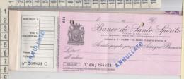 Banca Assicurazione Libretto Con 9 Assegni Banco Di Santo  Spirito - Banque & Assurance