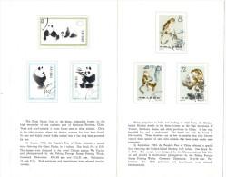 """LSAU9- CHINE ENCART """"SINGE ET PANDA GEANT"""" - 1949 - ... République Populaire"""