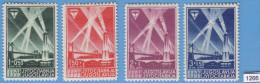 YUGOSLAVIA 1938; Mi: 354 - 357; MH; Air Exposition Beograd - Neufs