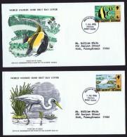 Gilbert & Ellice   1976  WWF FDC  Moorish Idol Fish, Reef Egret Bird - Tuvalu