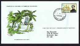 Gilbert Islands  1977 Charles Wilkes And Ship «Vincennes» FDC To Canada - Tuvalu