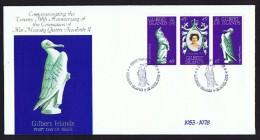 Gilbert Islands  1978  Queen Elizabeth II  25th Anniversary Of Coronation  Unaddressed FDC - Tuvalu