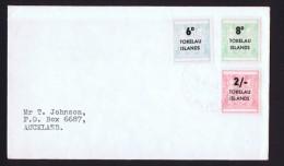 TOKELAU  1966  New Zealand Postal-Fiscal Stamps Overprinted «Tokelau Islands» And New Values  FDC To New Zea - Tokelau