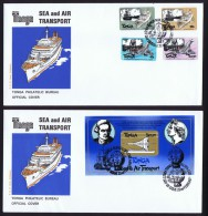 1983  Sea And Air Transport Stamps And Souvenir Sheet  Unaddressed FDCs - Tonga (1970-...)