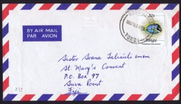 1988?  Air Mail Cover From Nuku'alofa To Fiji   32 Cent Fish Self-adhesive - Tonga (1970-...)