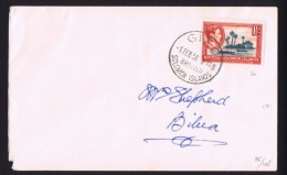 1956  Domestic Cover From Gizo To Bilua   1½d George VI - British Solomon Islands (...-1978)