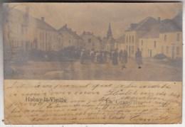 Habay-la-Vieille - La Grand-Rue - tr�s anim�e - 1903 - carte photo - �tat voir scan