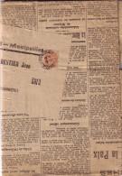 TYPE BLANC - 3c OBLITERATION JOURNAUX MONTPELLIER LE 18-2-1919 - SUR JOURNAL L´ECLAIR QUOTIDIEN DU MIDI. - 1877-1920: Période Semi Moderne