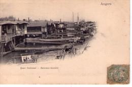 Angers.. Bateau-lavoirs Péniche Batellerie Gabare Gabarot Marine Rivière Fleuve.. Quai National.. Carte Nuage - Angers