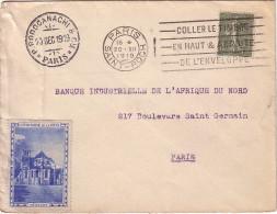 SEMEUSE - 15c SUR LETTRE DE PARIS LE 12-12-1919 - AVEC VIGNETTE CROISADE DE LA PAIX - SUPERBE.. - 1877-1920: Période Semi Moderne