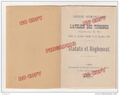 Au Plus Rapide Chantiers Navals La Seyne Sur Mer Var 1909 Groupe Humanitaire Atelier Des Turbines Statuts Règlement - Documents Historiques