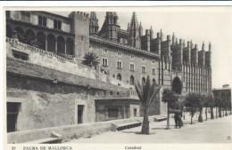 POSTAL    PALMA DE MALLORCA  -BALEARES -ESPAÑA  -   LA CATEDRAL - Palma De Mallorca