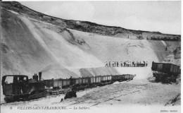 VILLERS SAINT FRAMBOURG : La Sablière - Belle CPA Utilisée En 1915 - Animée (train - Ouvriers ..) - Frankreich