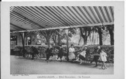 CHATELAILLON : Hôtel Beauséjour , La Terrasse - Belle CPA Non Utilisée - Châtelaillon-Plage