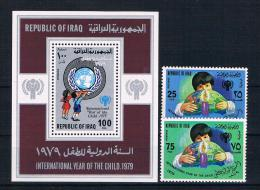 Irak 1979 Kinder Mi.Nr. 1008/09 Kpl. Satz + Block 31 ** - Irak