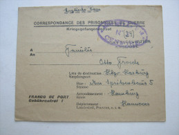 1948 , Camp Valenziennes   , Prisonner De Guerre, Lettre    Allemagne    , 2 Scans - Marcophilie (Lettres)