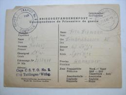 1946, Camp Transitdepot  Tuttlingen    , Prisonner De Guerre, Lettre    Allemagne - Marcophilie (Lettres)