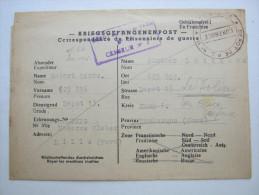 Camp  Lille / Dunkerque       , Prisonner De Guerre, Lettre    Allemagne - Marcophilie (Lettres)