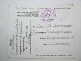 1945, Camp  8   , POW  , Postcard   From German Soldier,  With Censor - 1902-1951 (Kings)
