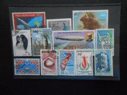 MADAGASCAR : Lot de timbres oblit�r�s