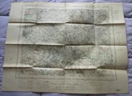 215.CARTE DE France Militaireau 50 000ème : LILLE – Carroyage Kilométrique Projection Lambert Zone Nord De Guerre – Octo - Cartes Topographiques