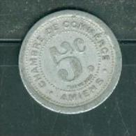 Rare France : Nécessité : AMIENS - 5 Cts 1922  Pia7903 - Monétaires / De Nécessité