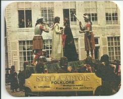 Stella Artois  -  Folklore   - Verschil Tekst - Veurne - Beer Mats