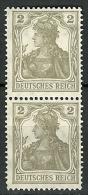 Allemagne - Année 1916-19 - Y&T N° 96 En Duo**- Mi N°102 En Duo** - Allemagne