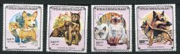 (cl 24 - p20) Madagascar ** n� 1001 - 1003 - 1004 - 1006 - Chats et chiens  -
