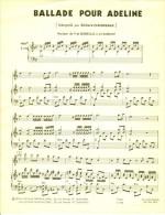 Partition Pour Piano - BALADE POUR ADELINE (Musique De P. De Senneville & O. Toussaint) - Music & Instruments