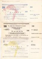 CHARBONNAGES / KOOLMIJN - Andr� DUMONT - WATERSCHEI - 10  - 100 en 200 Fr., kasbon 1940