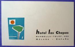 HOTEL RESIDENCIA LAS CHAPAS MARBELLA MALAGA COSTA DEL SOL LUGGAGE LABEL ETIQUETTE AUFKLEBER DECAL STICKER MADRID - Hotel Labels