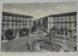 NAPOLI - Piazza Vanvitelli Angolo Via Scarlatti Vomero - Corriera - Filobus - Tram - Napoli