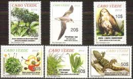 cv1204 Cabo Verde 2012 Protected areas - Fauna - Flora - Santo Antao Eagle 5v