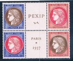 FRANCE   BLOC PEXIP  N° 348** à 351** Signé Calves - Neufs