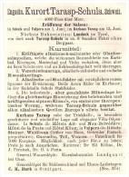 Original Werbung - 1884 - Bad Tarasp Und Schuls / Scuol , Engadin , Salzquelle , Kur , Arzt , Apotheke , Krankenhaus !!! - Pubblicitari
