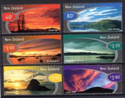 Neuseeland, 1998, Stimmungsvolle Landschaftsbilder, MI 1698-1703, MNH - Geography