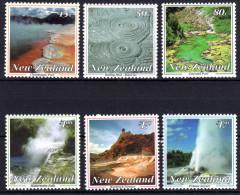 Neuseeland, 1993, Landschaften: Vulkanische Erscheinungen Bei Rotorua, MI 1284-1289, MNH - Geography