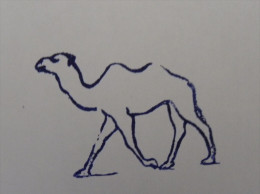 Ancien Tampon Scolaire Bois CHAMEAU Ecole French Antique Rubber Stamp CAMEL - Scrapbooking
