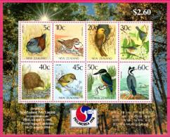 Neuseeland, 1994, Blockausgabe: PHILAKOREA '94, Block 45, MNH - Birds