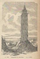 1887 Splendida Incisione  Del Campanile Di AQUILEIA  Udine Friuli - Vecchi Documenti