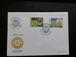45/944     FDC  PORTUGAL - Rotary, Lions Club