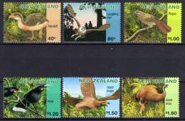 Neuseeland, 1996, Ausgestorbene Vögel, MI 1558-1563, MNH - Birds
