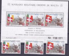 Malte(Odre De)1971: CHRISTMAS MS9,113-15  (Ireland,Italy,Switzerland)mnh** - Malte (Ordre De)