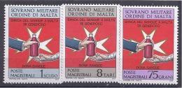 Malte(Odre De)1975: BLOOD BANK Said 107-9mnh** - Malte (Ordre De)