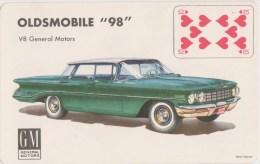 """VOITURE  Oldsmobile 98   carte � jouer du jeu �dit� par  les Grands Magasins """"Au bon March�"""""""