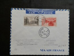 45/968  LETTRE  1°  VOL DAKAR-BISSAO - Airmail