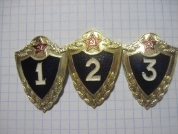 USSR/ Russia. Soviet Army. Soldiers` Rank 1,2 & 3. Military Badges. Set Of Three Ranks. - Army